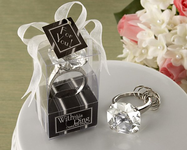 """With This Ring"" Engagement Ring Keychain"