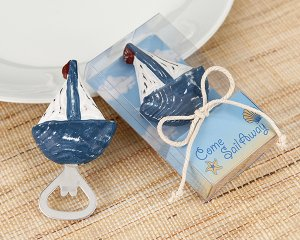 'Come Sail Away' Handcrafted Wooden Bottle Opener (Set of 4)