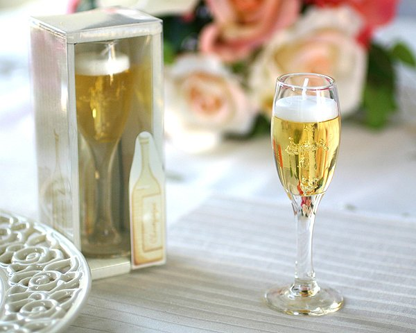 """""""Celebrate""""  Champagne Gel Candle  in Watercolor Gift Box"""