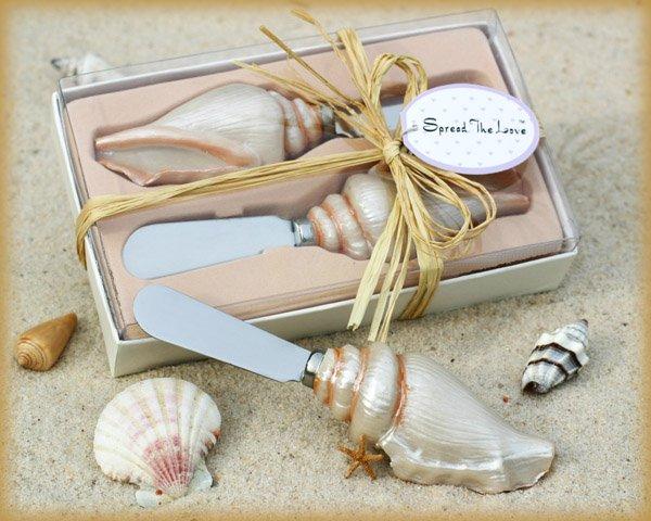 """Spread the Love"" Sea Shell Spreader Set in Gift Box"