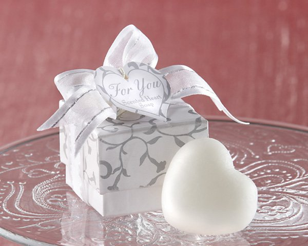 """""""For You"""" Scented Heart Soap in Silver Gift Box"""
