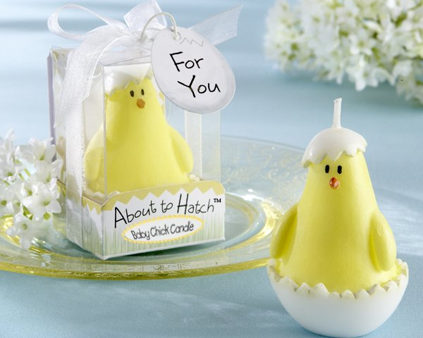 """About to Hatch"" Baby Chick Candle (Set of Four)"