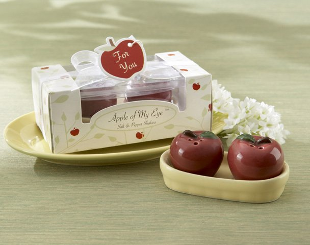 """Apple of My Eye"" Ceramic Salt & Pepper Shakers"