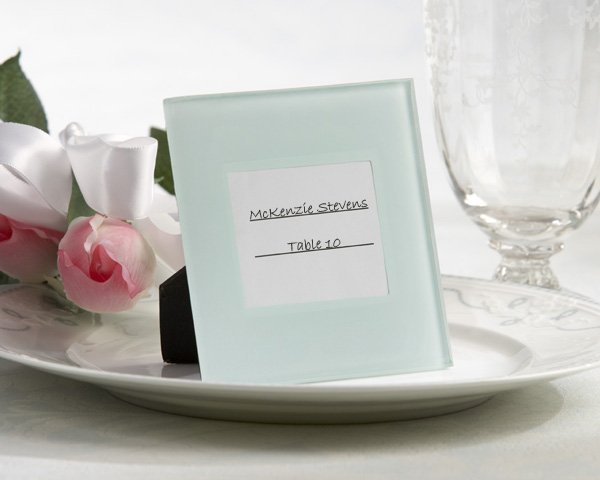 """""""Portraits of Love"""" Frosted-Glass Frame/Place Card Holder (Set of Four)"""