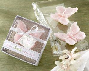 Floating Butterfly Tea Light in Garden-Themed Gift Box (Set of Four)