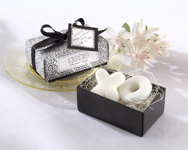 """Hugs & Kisses From Mr. and Mrs.!"" Scented Soaps"