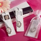 """Sweet Sixteen"" Leather Photo Bookmark in Sheer Organza Pouch"