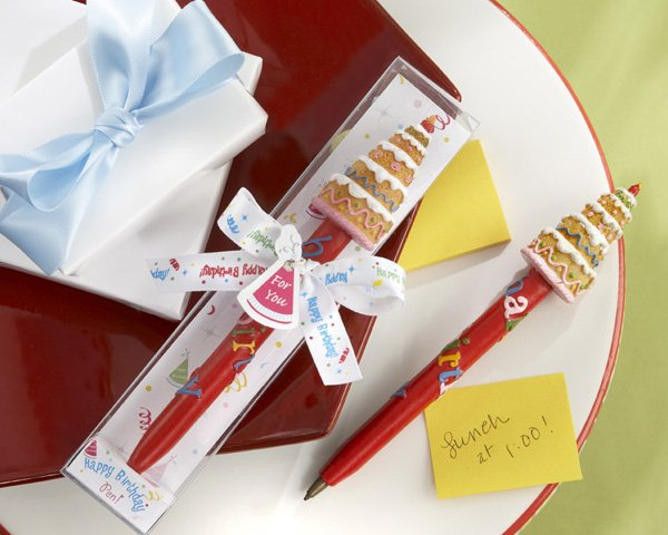 """""""Happy Birthday!"""" Pen in Festive Party Gift Box with Imprinted Ribbon"""