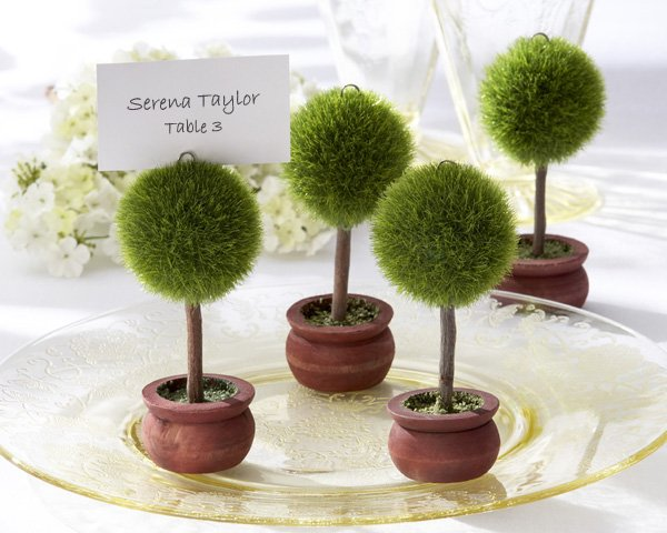 Topiary Photo Holder/Place Card Holder (Set of Four)