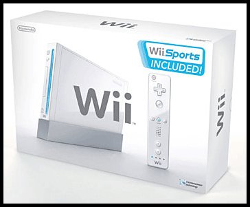 Nintendo Wii Game Console w/ Wii Sports & Jacket