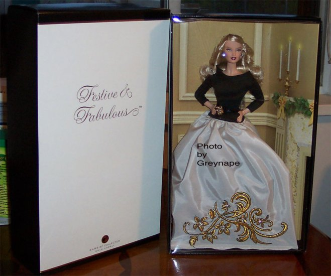NRFB Festive and Fabulous Barbie Doll Fan Club Doll MNRFB
