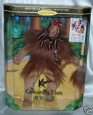 Ken as the Cowardly Lion Wizard of Oz NRFB Collector  Hollywood Legends! 1997