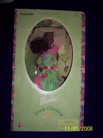 SIMPLY CHARMING AFRICAN AMERICAN BLACK BARBIE DOLL NRFB
