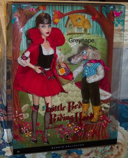 Little Red Riding Hood And The Wolf Barbie Giftset Nrfb-9896