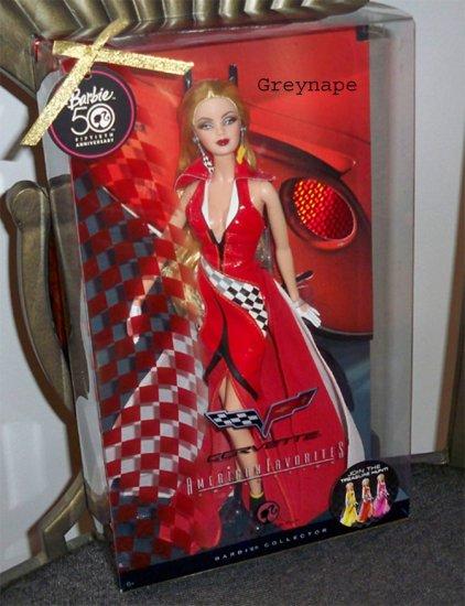 RED  HTF Treasure hunt Corvette Barbie Doll NRFB