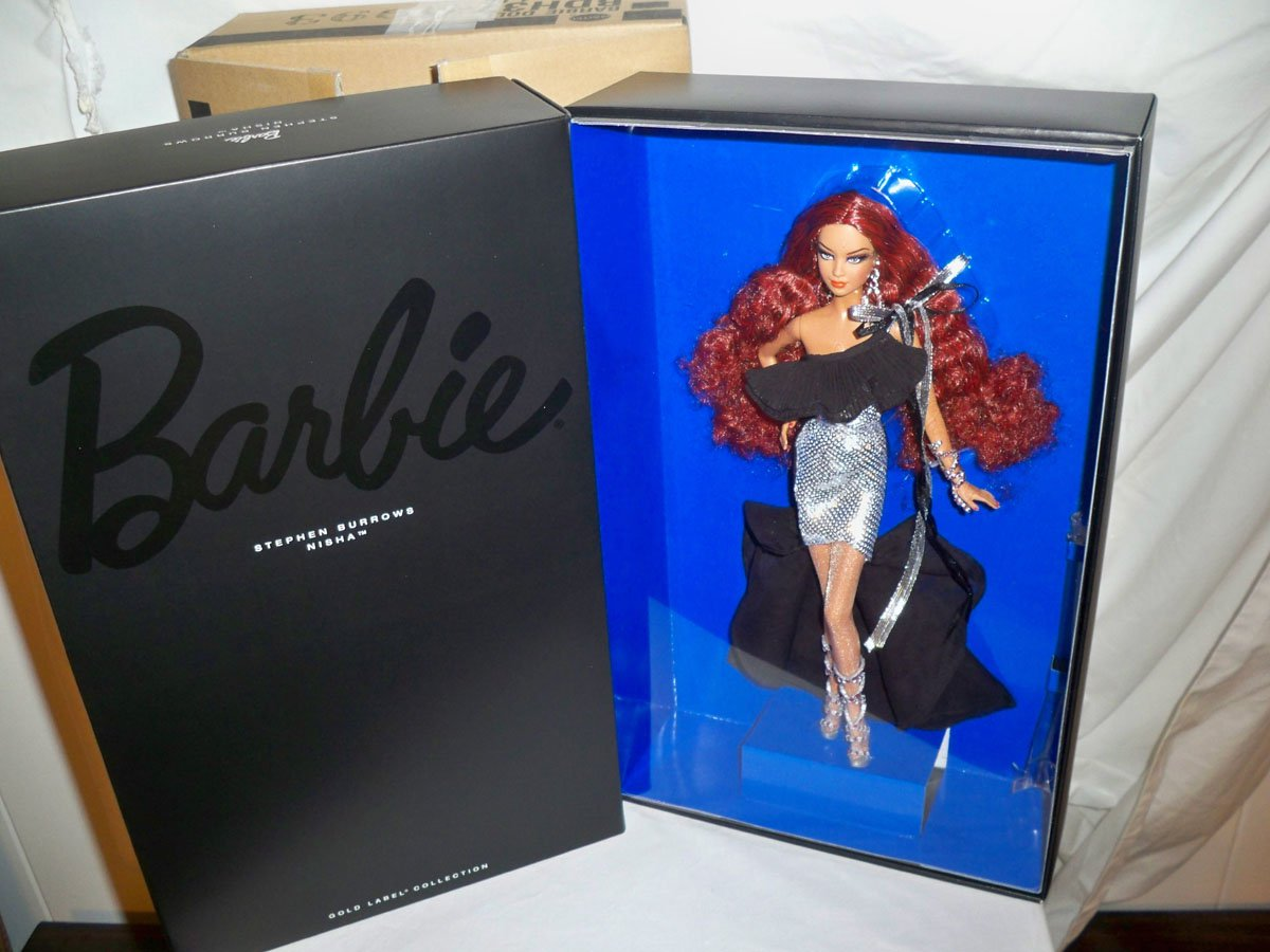 Stephen Burrows Nisha Barbie Doll NRFB 2014 Gold Label