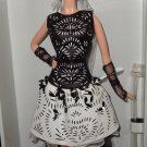 Laser-Leatherette Dress Barbie Platinum label doll NRFB Mattel Less then 1,000 made