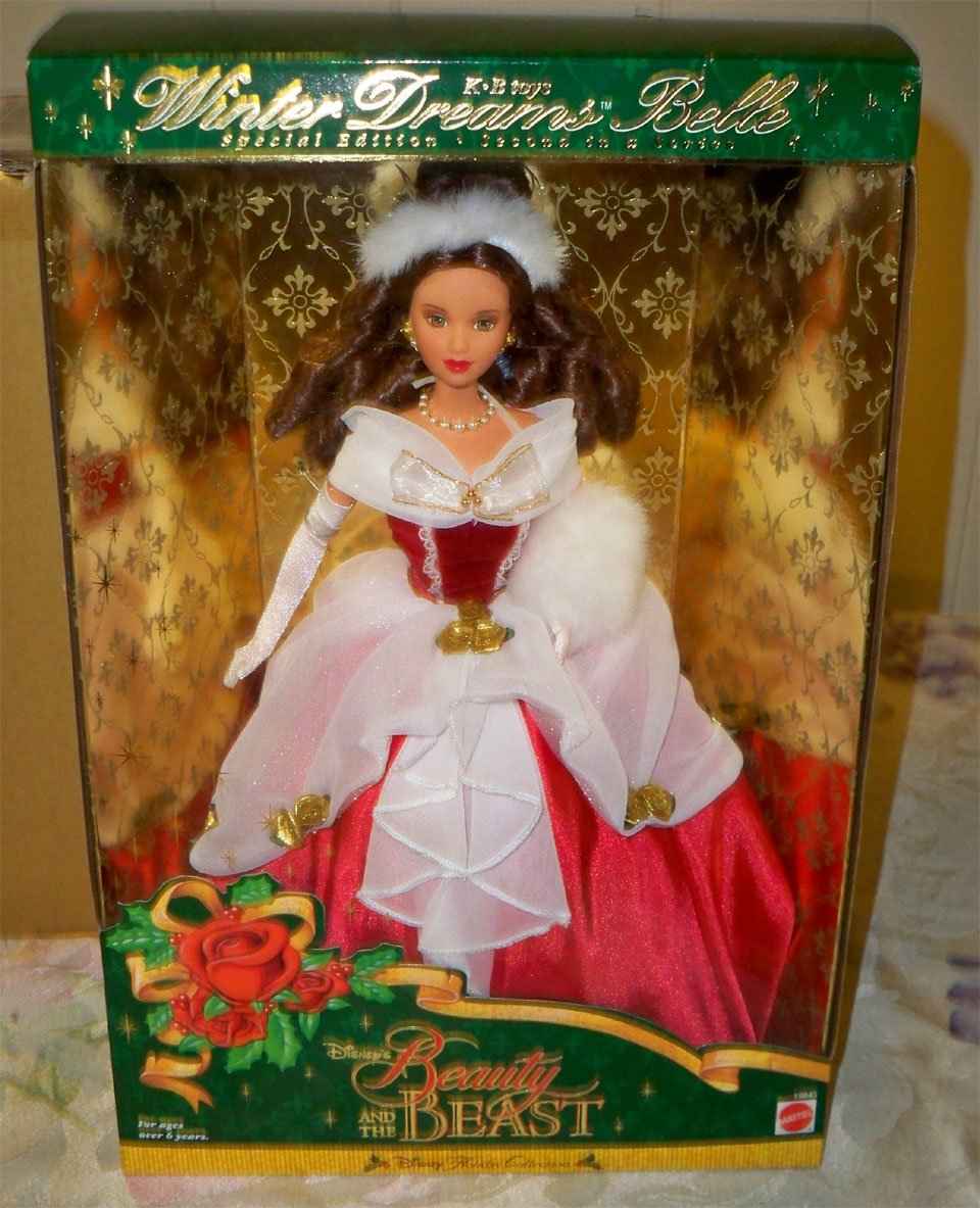 DISNEY'S BEAUTY AND THE BEAST WINTER DREAMS BELLE Second in Series KB toys