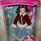 Disney Princess Belle 2001 Brass Key NRFB Winter Coat Blue Gown NRFB Porcelain