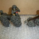2 Vintage Black Spaghetti Poodles Nice NOT perfect, see pics!!