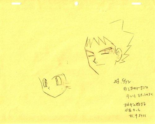 Brock and Ash Pokemon Production Sketch