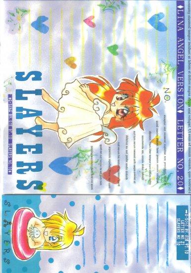 Slayers GS Club Doujinshi Letter Sheet set