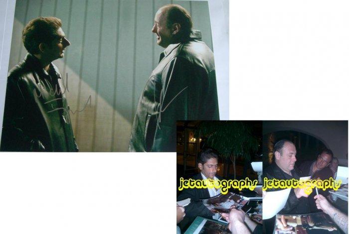 MICHAEL IMPERIOLI JAMES GANDOLFINI SIGNED SOPRANOS 11X14 PHOTO PIC PROOF SIGNING