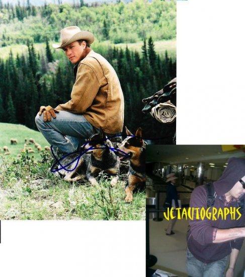 HEATH LEDGER SIGNED BROKEBACK MOUNTAIN 8X10 PHOTO PIC PROOF SIGNING RARE!!!!