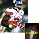BRANDON JACOBS SIGNED GIANTS 8X10 PHOTO PIC PROOF SIGNING