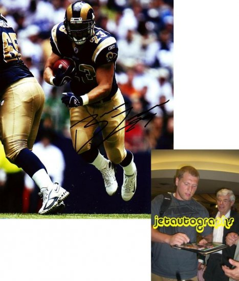 BRIAN LEONARD SIGNED RAMS 8X10 PHOTO PIC PROOF SIGNING