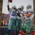 MICHAEL IRVIN DARYL JOHNSTON ALVIN HARPER SIGNED COWBOYS 11X14 PHOTO PIC PROOF SIGNING