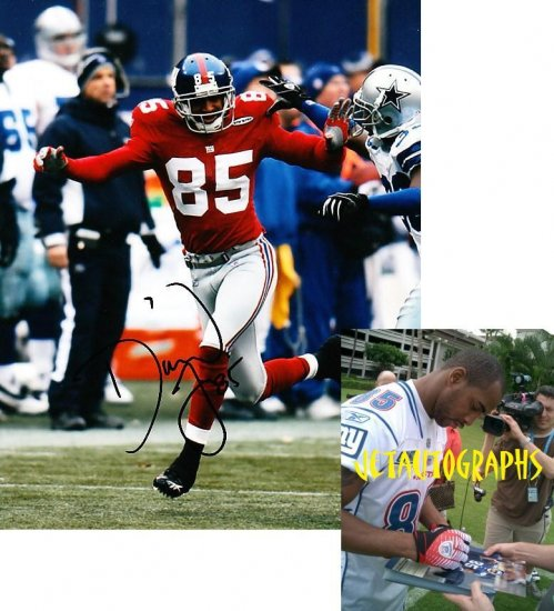 DAVID TYREE SIGNED GIANTS 8X10 PHOTO PIC PROOF SIGNING