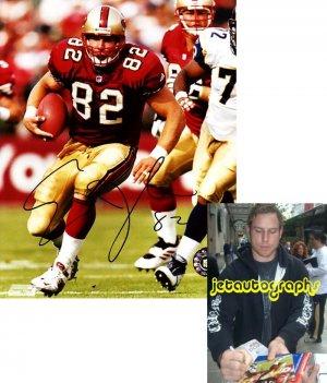 ERIC JOHNSON SAINTS SIGNED 49ERS 8X10 PHOTO PIC PROOF SIGNING