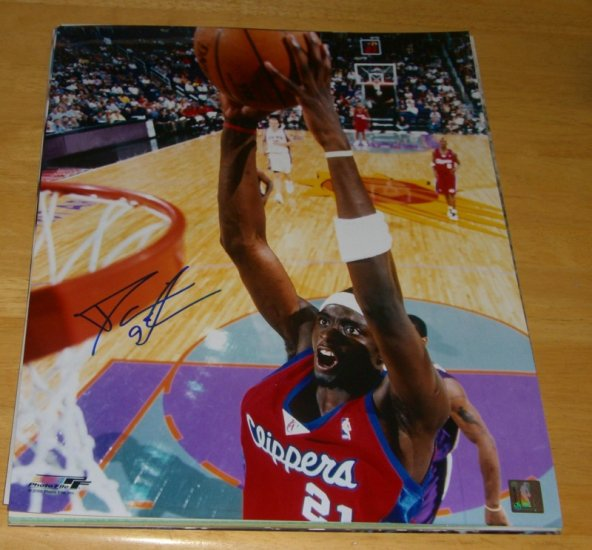 DARIUS MILES SIGNED CLIPPERS 16X20 PHOTO PIC PROOF SIGNING