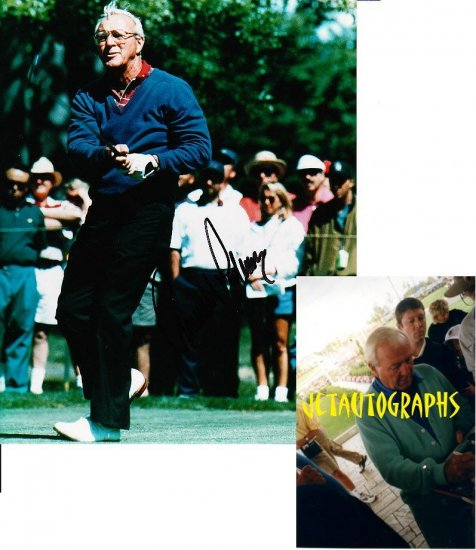 PGA LEGEND ARNOLD PALMER SIGNED CLASSIC 8X10 PHOTO PIC PROOF SIGNING