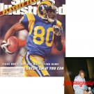 ISAAC BRUCE 49ERS SIGNED RAMS SPORTS ILLUSTRATED PIC PROOF SIGNING
