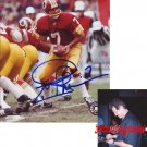 JOE THEISMANN SIGNED REDSKINS 8X10 PHOTO PIC PROOF SIGNING