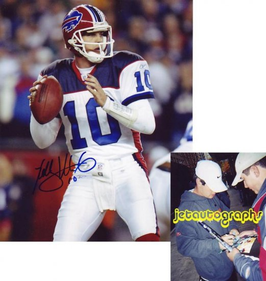 KELLY HOLCOMB SIGNED BILLS 8X10 PHOTO PIC PROOF SIGNING