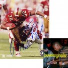 KEVAN BARLOW SIGNED 49ERS 8X10 PHOTO PIC PROOF SIGNING
