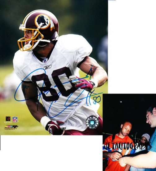 LAVERANUES COLES JETS SIGNED REDSKINS 8X10 PHOTO PIC PROOF