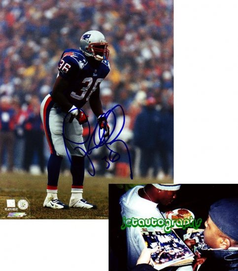 LAWYER MILLOY FALCONS SIGNED PATRIOTS 8X10 PHOTO PIC PROOF SIGNING