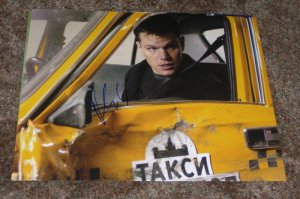 MATT DAMON SIGNED BOURNE SUPREMACY 11X14 PHOTO PIC PROOF SIGNING
