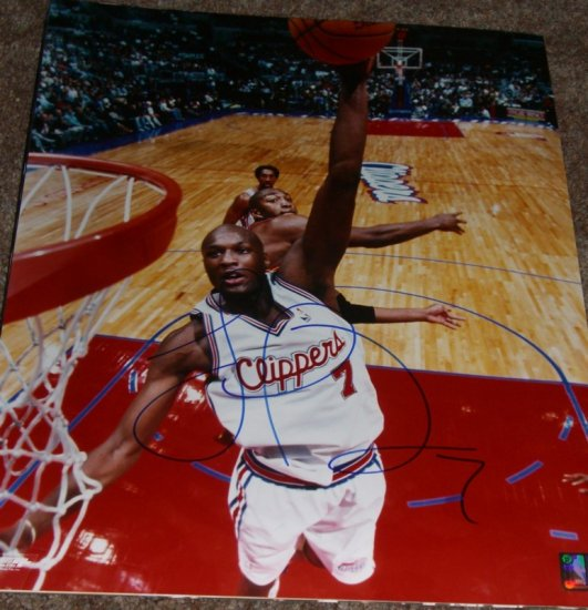 LAMAR ODOM SIGNED CLIPPERS 16X20 PHOTO PIC PROOF SIGNING