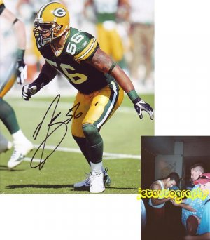 NICK BARNETT SIGNED PACKERS 8X10 PHOTO PIC PROOF SIGNING