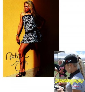 LPGA NATALIE GULBIS SIGNED SEXY 8X10 PHOTO PIC PROOF SIGNING