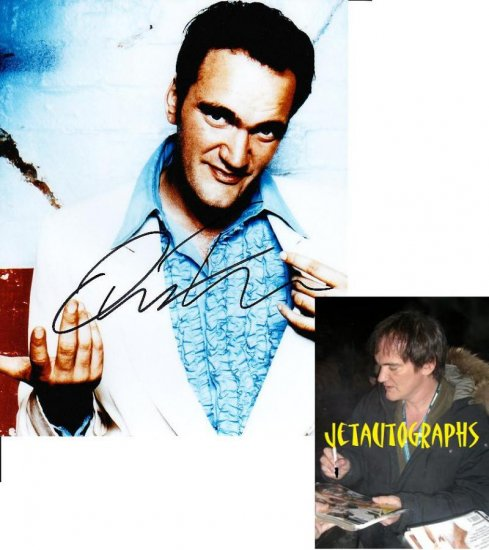 QUENTIN TARANTINO SIGNED RESERVOIR DOGS 8X10 PHOTO PIC PROOF SIGNING