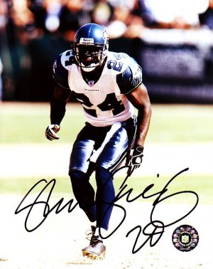 SHAWN SPRINGS REDSKINS SIGNED SEAHAWKS 8X10 PHOTO