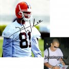 TRAVIS WILSON SIGNED BROWNS 8X10 PHOTO PIC PROOF SIGNING