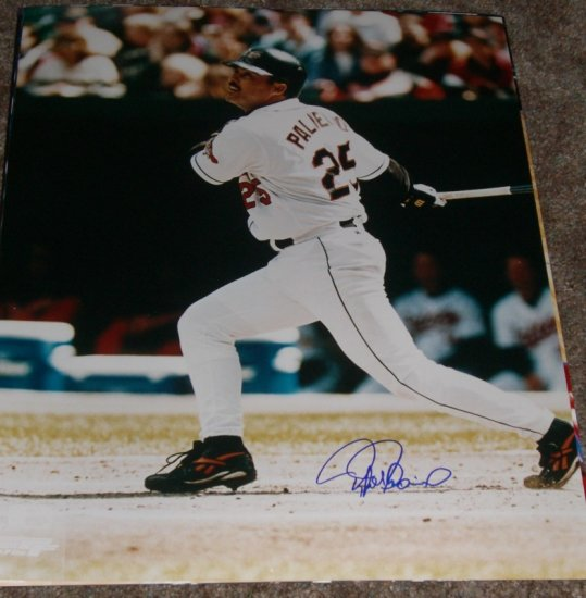RAFAEL PALMEIRO SIGNED ORIOLES 16X20 PHOTO PIC PROOF SIGNING