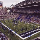 SEAHAWKS TEAM SIGNED STADIUM 8X10 PHOTO PIC PROOF SIGNING